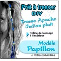 TRESSE APACHE PAPILLON A TRESSER SOI-MEME BLEU