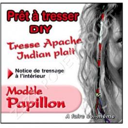 TRESSE APACHE PAPILLON A TRESSER SOI-MEME ROUGE