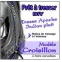 TRESSE APACHE CROISILLON VIOLET