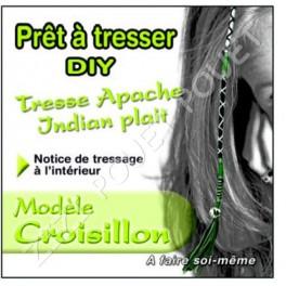TRESSE APACHE CROISILLON VERT