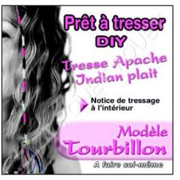 TRESSE APACHE TOURBILLON ROSE/VIOLET