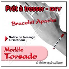 BRACELET APACHE TORSADE ROUGE