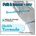 BRACELET APACHE TORSADE A TRESSER SOI-MEME BLEU