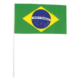 Drapeau Brésil en plastique 16 x 29 cm