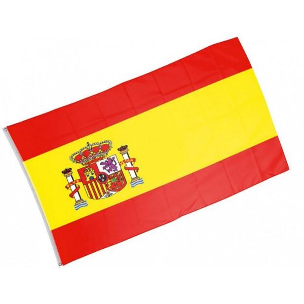 Drapeau espagne 90 x 150 cm zizipouetpouet for A table en espagnol