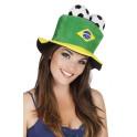 Chapeau supporter foot Brésil