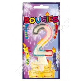 BOUGIE CHIFFRE 2