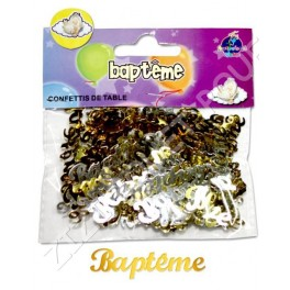 CONFETTIS DE TABLE BAPTEME