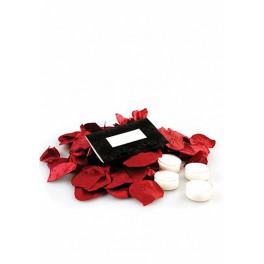 Kit romantique Pétales de rose et bougies